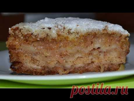 Насыпной яблочный пирог ТРИ СТАКАНА. Очень ПРОСТОЙ И ВКУСНЫЙ. Пирог, который всегда получается.