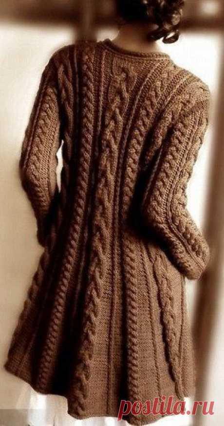 Пальто с узором из кос — Сделай сам, идеи для творчества - DIY Ideas