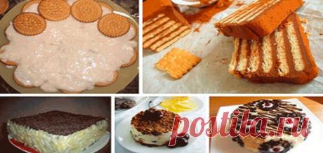 Легкие торты из печенья без выпечки. 5 самых лучших рецептов! Отличная подборка десертов на скорую руку. Сохрани, пригодятся!  Содержание: Торт из...