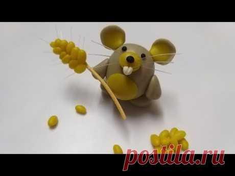 🐹Как слепить Хомячка из мастики, пластилина, полимерной глины (Cake/Fondant Topper - Hamster). - YouTube