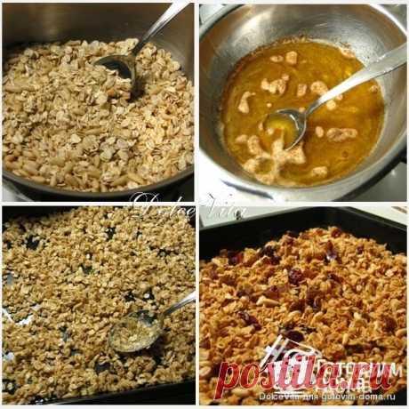Гранола или домашние мюсли - пошаговый рецепт с фото на Готовим дома