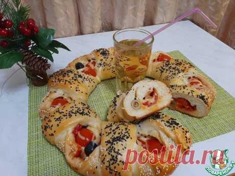 Пирог-пицца Кулинарный рецепт