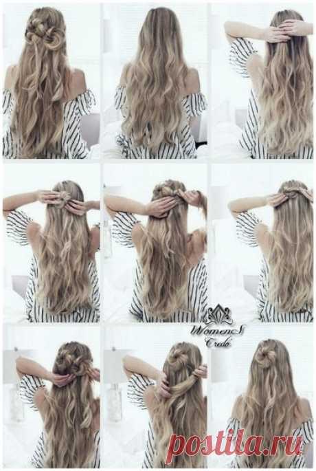 Фотоуроки причесок на распущенные волосы | Женское кредо