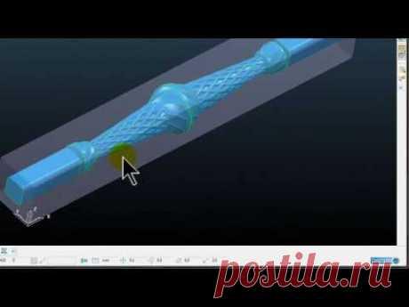 Работа с поворотной осью  Программа PowerMill  Нарезки из курса по работе с поворотной осью CNC Prof