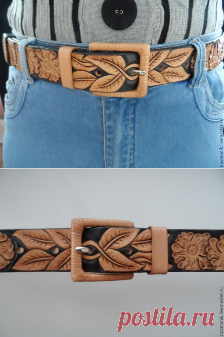 Master class in production of a women's leather belt