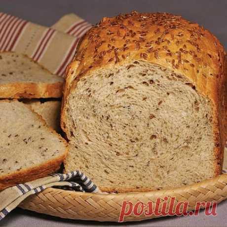Хлеб с хрустящей корочкой с семенами льна — Sloosh – кулинарные рецепты
