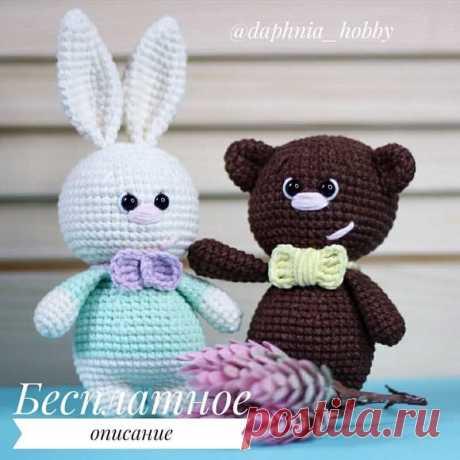СХЕМА вязания маленьких игрушек медвежонка и зайчика крючком #схемыамигуруми #амигуруми #игрушкикрючком #вязаныймишка #вязанызаяц #amigurumi #amigurumipattern #freeamigurumipatterns #crochetbear #amigurumibear #crochetbunny #amigurumibunny