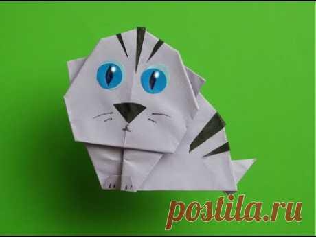 Как Сделать КОТЕНКА ИЗ БУМАГИ - Легкое Оригами для Начинающих