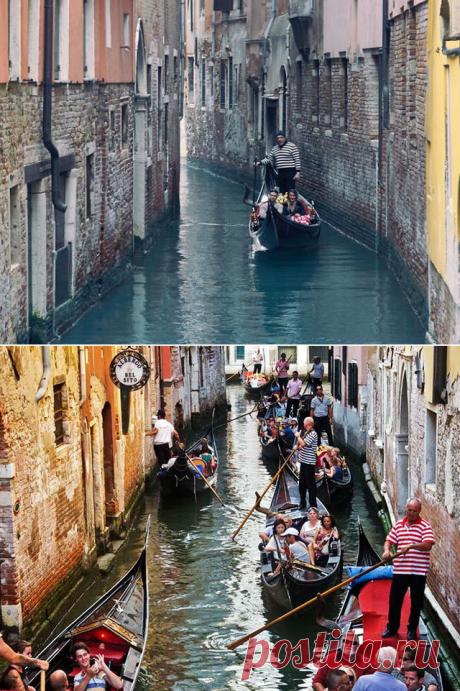 Ожидание и реальность. Вот так выглядят самые популярные места для туристов. ( Я в шоке, никуда не поеду) — Infodays