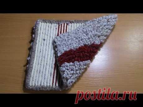 В данном видео показан способ вязания крючком коврика на резиновой основе. Адрес ссылки плейлиста Вязание коврика на резиновой основе: https://www.youtube.co...