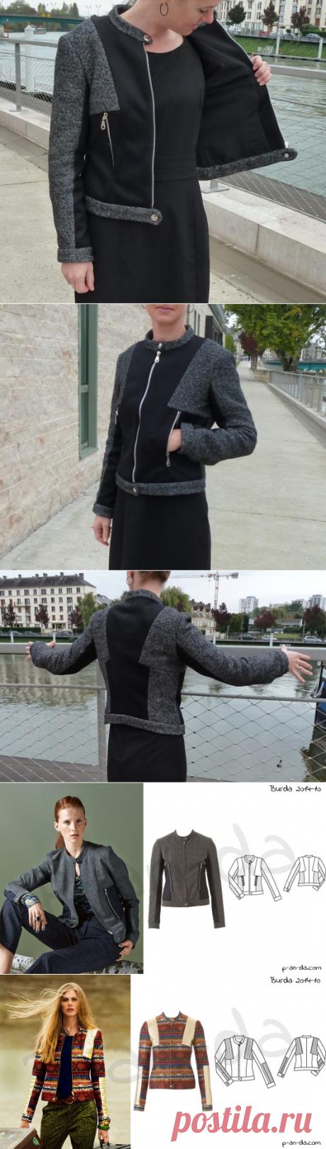Veste-blouson en lainage | SB créations