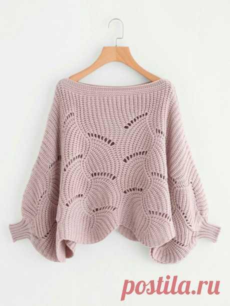 Красивый и необычный узор для пуловера. Схемы (УЗОРЫ СПИЦАМИ) — Журнал Вдохновение Рукодельницы