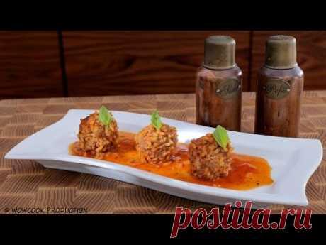 Тефтели из мяса с рисом в красном соусе. Быстрый и вкусный рецепт. Готовит Уриэль Штерн