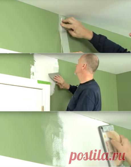 Простой способ заделать трещины в гипсокартоне — Наши дома