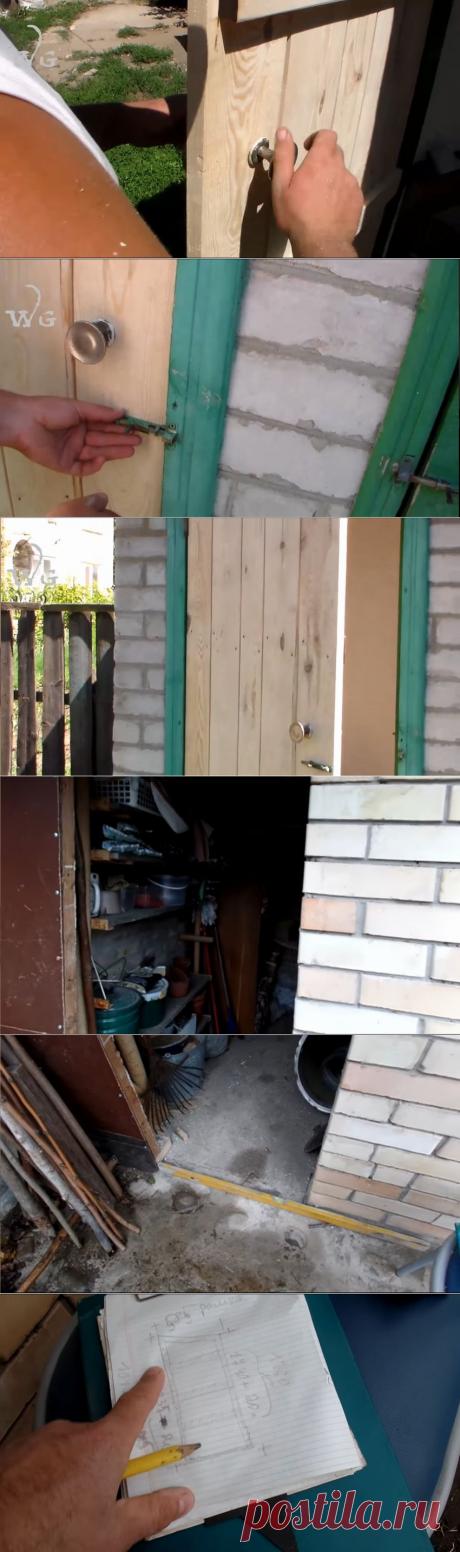 Как быстро сделать простую деревянную дверь для сарая своими руками.