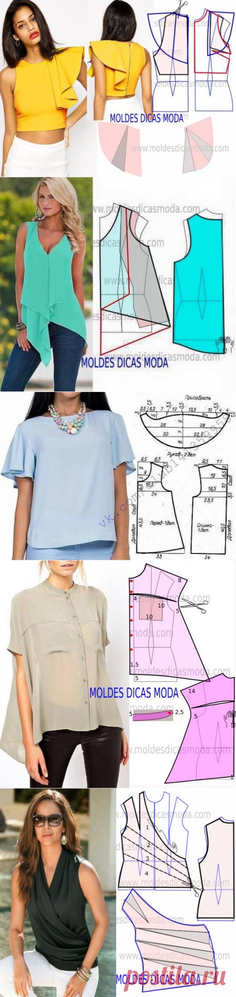 Моделирование оригинальных летних блузок — Сделай сам, идеи для творчества - DIY Ideas