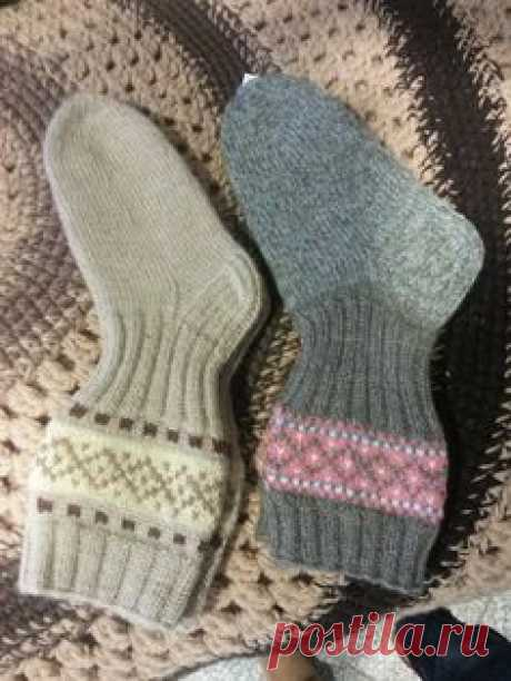 Socks with Jacquard. Idea