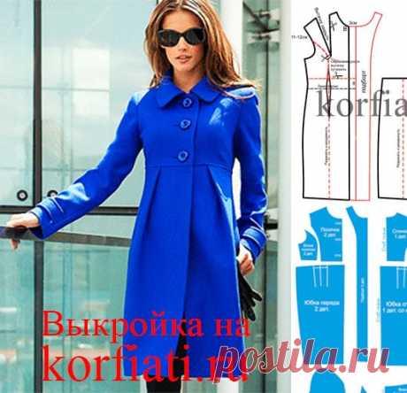 Стильное пальто - выкройка от Анастасии Корфиати Это эффектное стильное пальто от Victoria Secrets стоит более тысячи долларов, а вы сможете сшить его самостоятельно, потратив на ткань менее пары тысяч рублей!