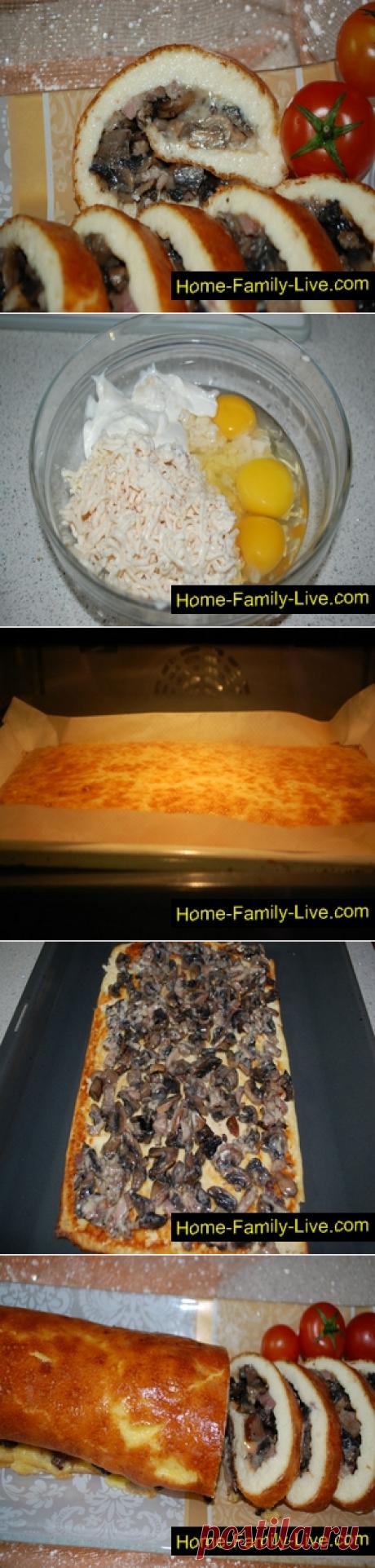 Рулет закусочный/Сайт с пошаговыми рецептами с фото для тех кто любит готовить