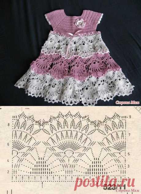 Вязание для малышей. 5 идей платья крючком | Сашка-Вязашка | Яндекс Дзен