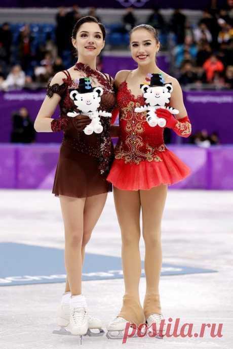 медведева и загитова (Олимпиада в Корее)