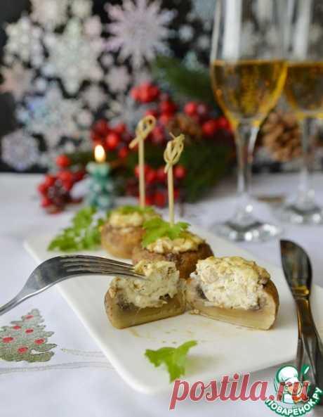 Шампиньоны, фаршированные фетой и творожным сыром – кулинарный рецепт