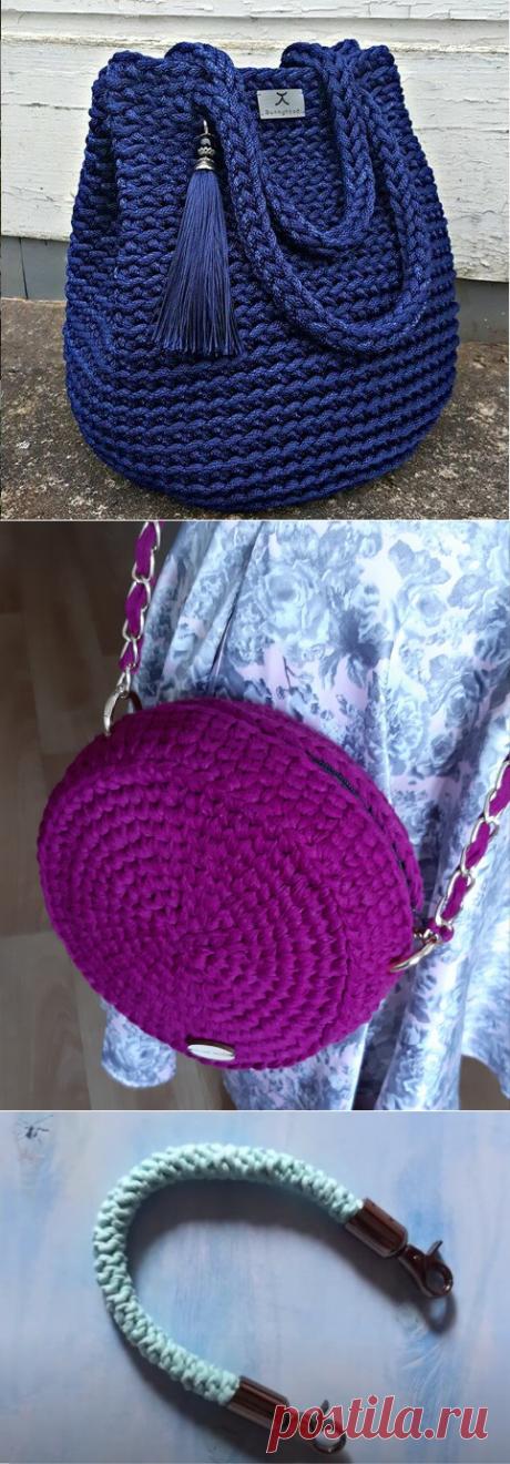 5 вариантов ручек для вязаной сумки - легко связать самому | Anna Gri Crochet | Яндекс Дзен