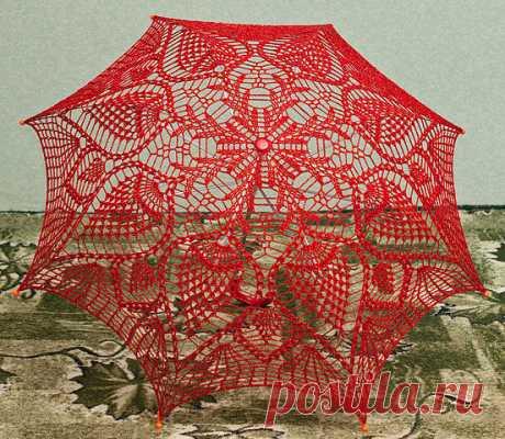 Очень красивые зонтики крючком + схемки