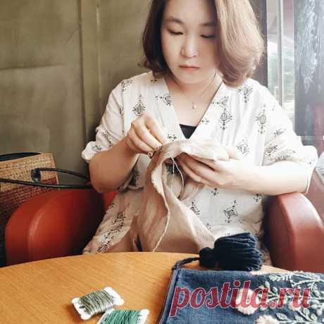 Современная вышивка от корейской вышивальщицы Eun-jeong Lee | Мир Вышивки | Яндекс Дзен