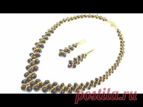 Necklace CORNER/Beaded necklace/DIY/Колье уголок/Колье из бисера своими руками /Комплект ИМПЕРАТРИЦА