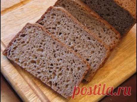 Украинский формовой черный хлеб - YouTube