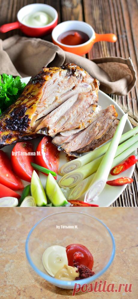 Голень индейки, запеченная в духовке   Кулинарный блог Татьяны М.