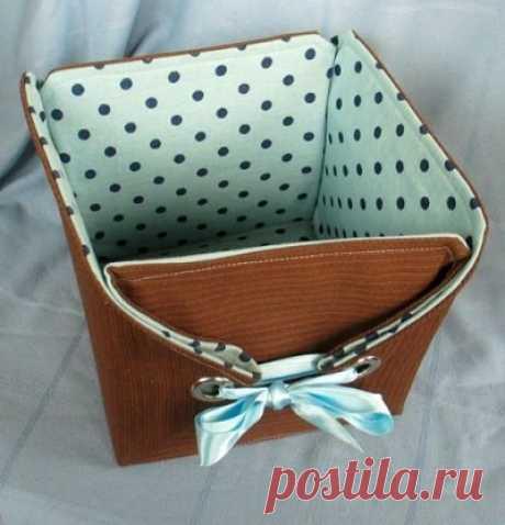 Идеи текстильных коробочек с мягкими бортиками