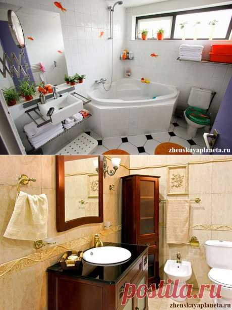 Маленькая ванная - 5 дизайнерских решений | Женская Планета