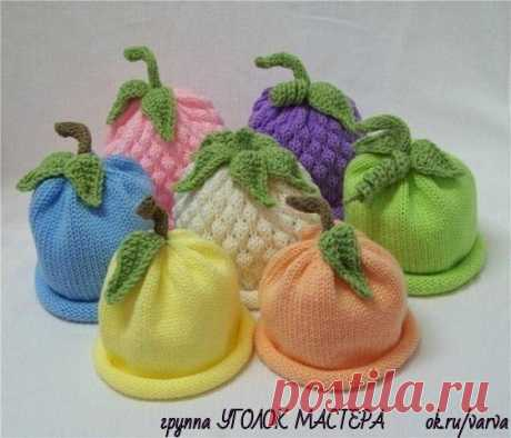 Забавные вязаные детские шапочки из категории Интересные идеи – Вязаные идеи, идеи для вязания