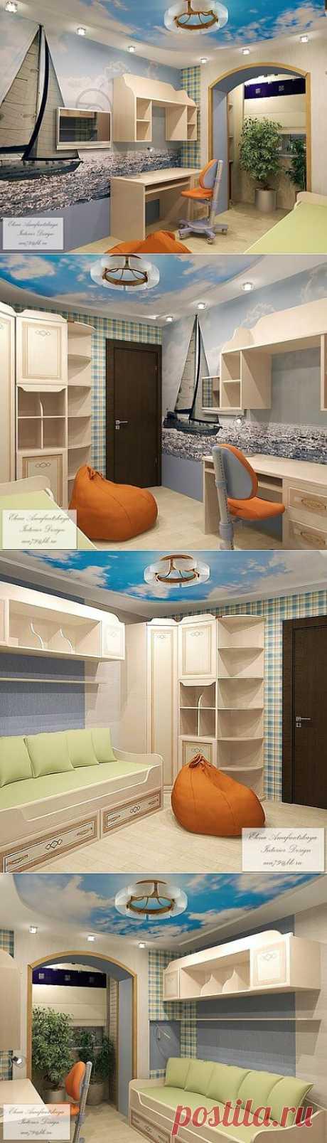 Детская с кораблем - дизайн-проект с фото