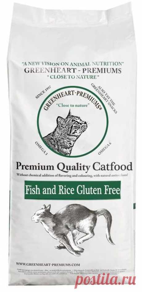 Greenheart Catfood Fish & Rice Gluten Free сухой бюзглютеиновый корм для взрослых кошек с рыбой и рисом