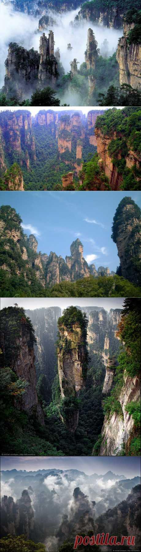 Летающие скалы «Аватара» - Улинъюань в национальном парке Чжанцзяцзе, Китай | Newpix.ru - позитивный интернет-журнал