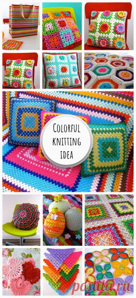 Colorful Knitting Idea