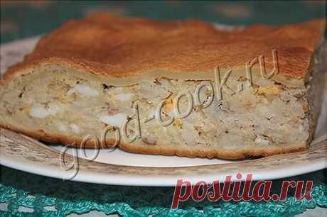 Хорошая кухня - пирог с рыбой и рисом. Кулинарная книга рецептов. Салаты, выпечка.