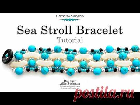 Sea Stroll Bracelet - DIY Jewelry Making Tutorial by PotomacBeads