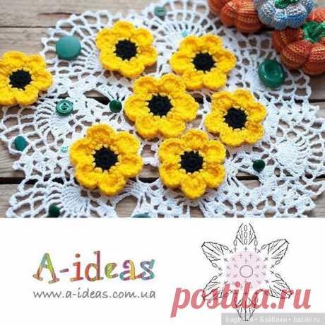 Схемы цветов + кольцо амигуруми / Вязание для кукол / Бэйбики. Куклы фото. Одежда для кукол
