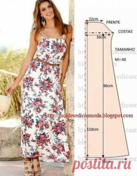 Простые выкройки летних платьев и сарафанов