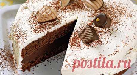 La torta del chocolate negro, poshagovyy la receta de la foto