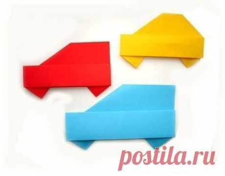 Машинка оригами. - Поделки с детьми | Деткиподелки
