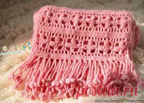 La bufanda chiné con las florecitas