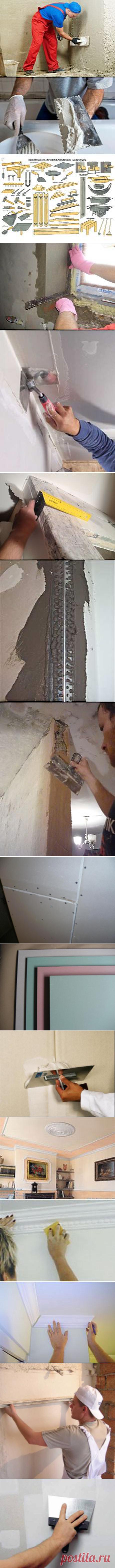 Как затереть швы на гипсокартоне, чтобы их не было видно   школа ремонта   Postila