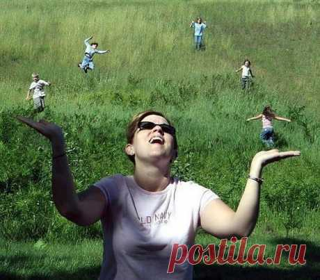 Фото-иллюзия: жонглер
