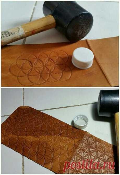Как создать узор на коже