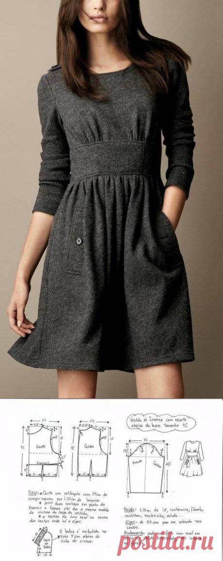 Удобное платье. Выкройки на размеры 36-56(евро) (Шитье и крой) – Журнал Вдохновение Рукодельницы